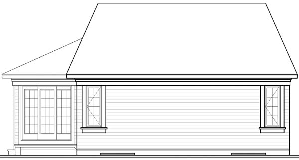 Bungalow House Plan 64916 Rear Elevation