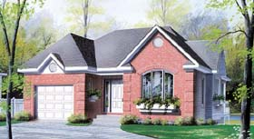 Bungalow European Traditional House Plan 64917 Elevation