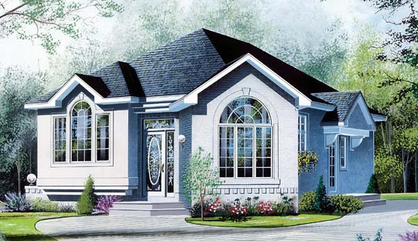 Bungalow Contemporary European House Plan 64919 Elevation