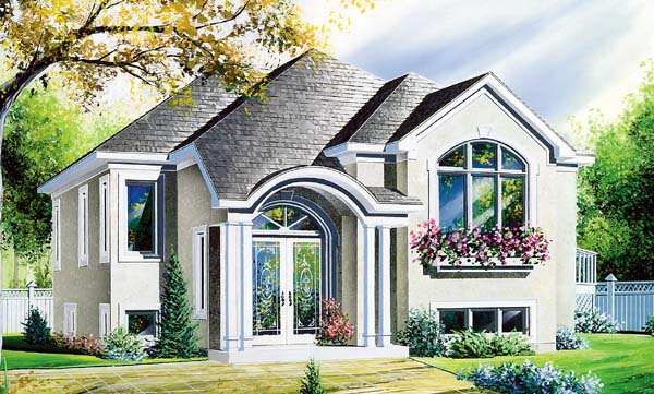 House Plan 64921 Elevation