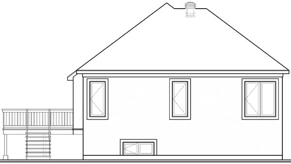 House Plan 64921 Rear Elevation