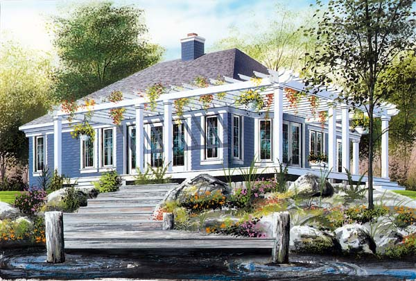 House Plan 64922 Elevation