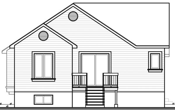 House Plan 64926 Rear Elevation
