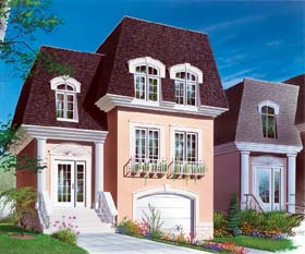 House Plan 64928 with 3 Beds, 2 Baths, 1 Car Garage Elevation