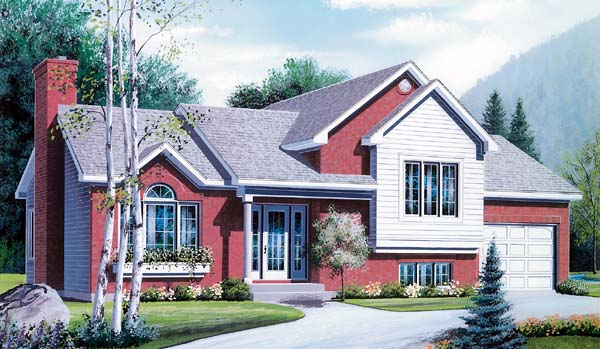 House Plan 64930 Elevation