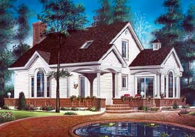 Contemporary Traditional House Plan 64932 Elevation