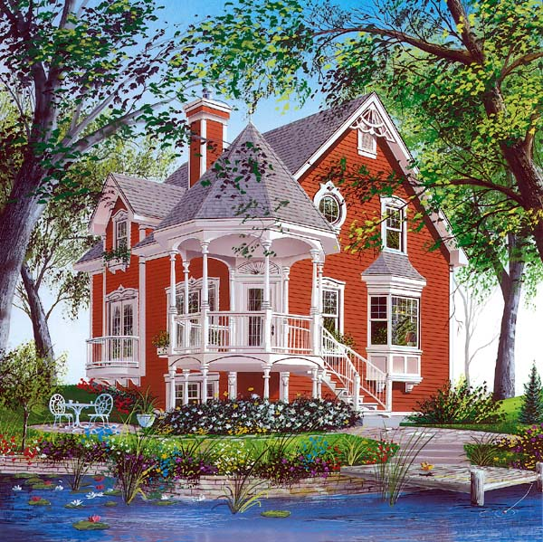 Victorian House Plan 64934 Elevation