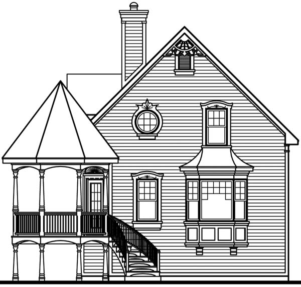Victorian House Plan 64934 Rear Elevation