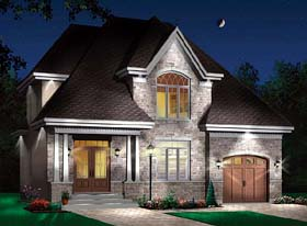 House Plan 64937 | Style Plan with 1874 Sq Ft, 4 Bedrooms, 2 Bathrooms, 1 Car Garage Elevation