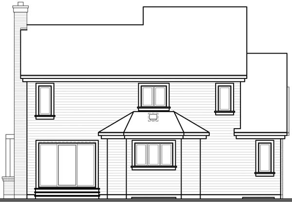 House Plan 64938 Rear Elevation