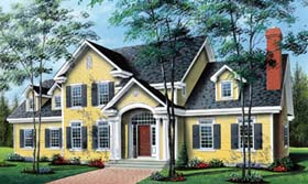 House Plan 64939 with 5 Beds, 4 Baths, 2 Car Garage Elevation