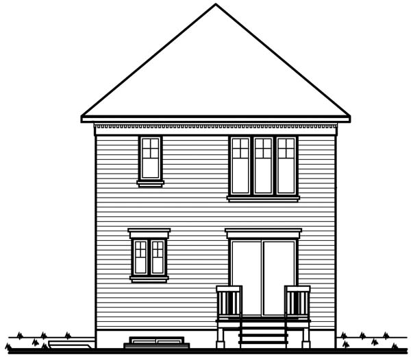 House Plan 64940 Rear Elevation