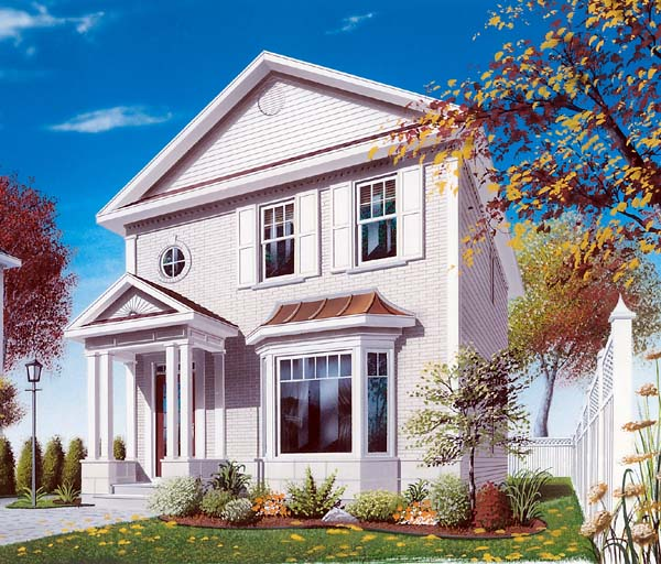 House Plan 64941 Elevation