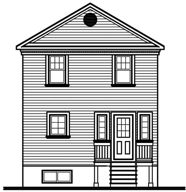 House Plan 64941 Rear Elevation