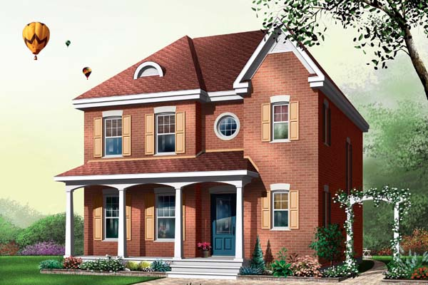 House Plan 64943 Elevation