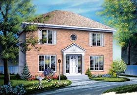 House Plan 64944 | Style Plan with 1666 Sq Ft, 3 Bedrooms, 2 Bathrooms Elevation