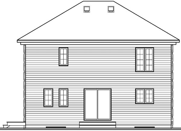 House Plan 64944 Rear Elevation