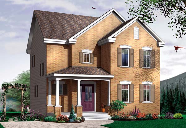 House Plan 64945 with 3 Beds, 1 Baths Elevation