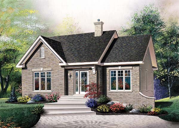 European House Plan 64946 Elevation