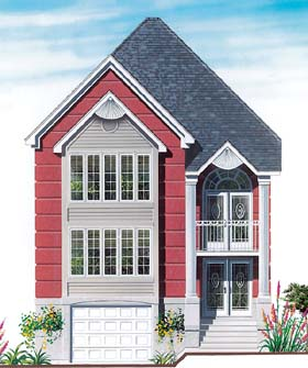 House Plan 64947 | Style House Plan with 1698 Sq Ft, 3 Bed, 2 Bath, 1 Car Garage Elevation
