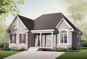 Country House Plan 64949 Elevation