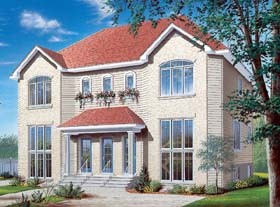 Multi-Family Plan 64954 with 8 Beds, 6 Baths Elevation