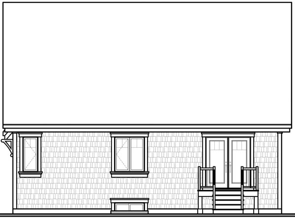 European House Plan 64956 Rear Elevation
