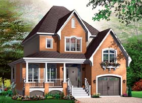 Traditional House Plan 64957 Elevation