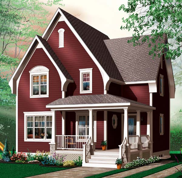 House Plan 64958 Elevation