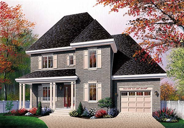 Traditional House Plan 64962 Elevation
