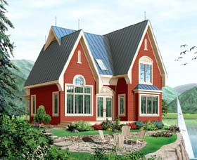 Country European House Plan 64964 Elevation