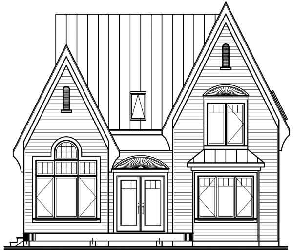 Country European House Plan 64964 Rear Elevation