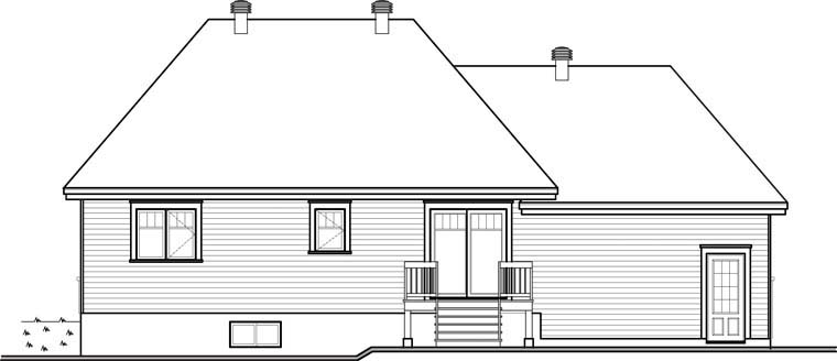 Country House Plan 64966 Rear Elevation