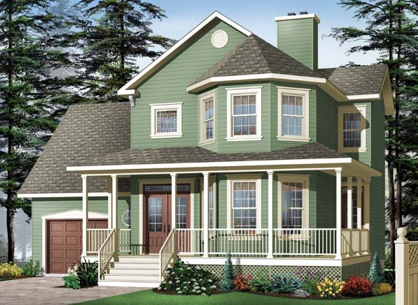 Country Southern Victorian House Plan 64968 Elevation