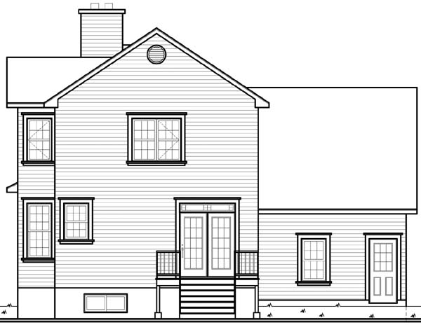 Country Southern Victorian House Plan 64968 Rear Elevation