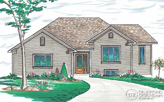 Bungalow House Plan 64971 Rear Elevation
