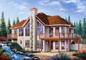 Contemporary Craftsman House Plan 64972 Elevation