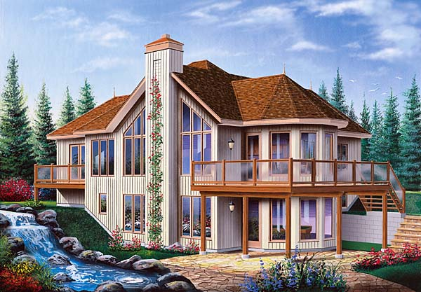 Contemporary Craftsman House Plan 64972 Elevation
