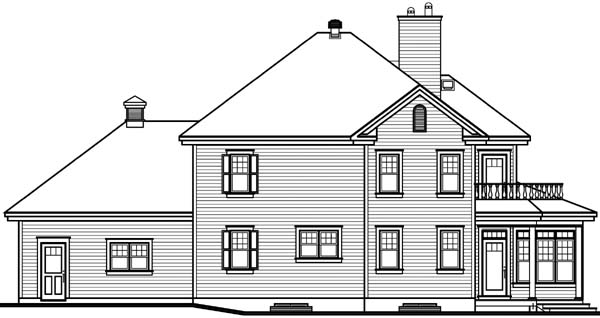 Country Traditional House Plan 64973 Rear Elevation