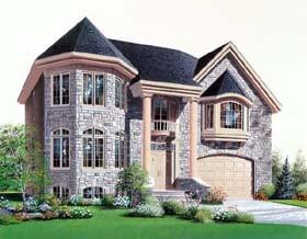 European House Plan 64974 Elevation