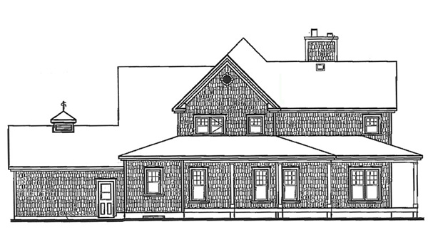 Country Farmhouse House Plan 64980 Rear Elevation
