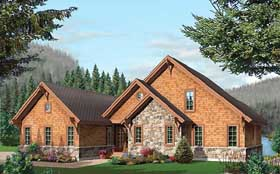 House Plan 64981 | Coastal, Country, Craftsman Style House Plan with 3506 Sq Ft, 5 Bed, 4 Bath, 2 Car Garage Elevation
