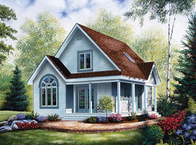 Cabin Country House Plan 64983 Elevation