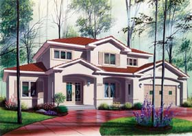 Florida House Plan 64984 Elevation