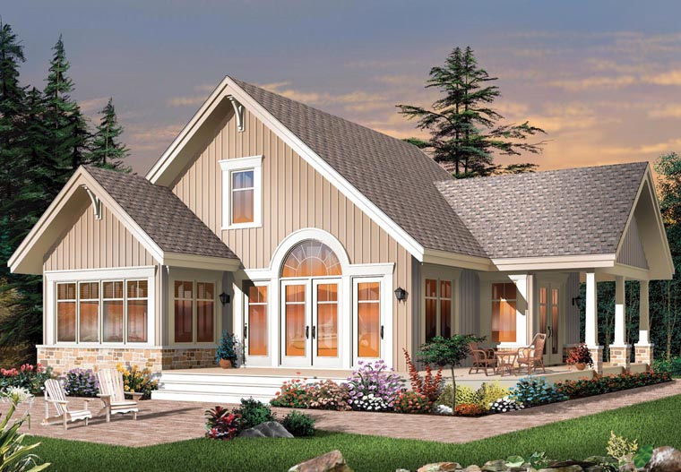 Craftsman House Plan 64988 Elevation