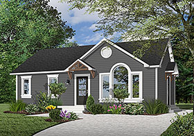 House Plan 64989 Elevation