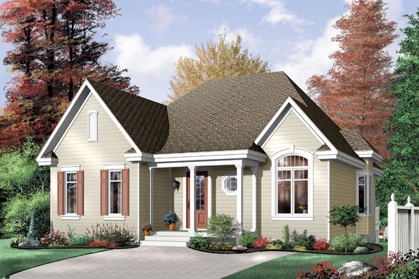 Traditional House Plan 64990 Elevation