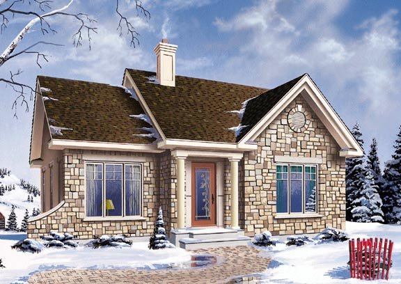 House Plan 64993 Elevation