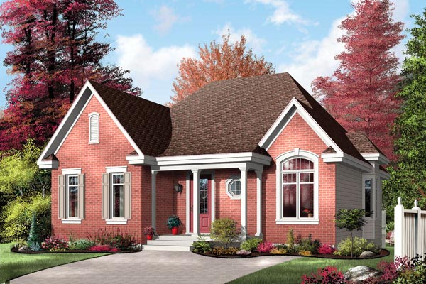 Traditional House Plan 64995 Elevation