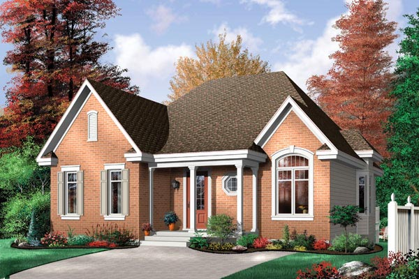 Traditional House Plan 64997 Elevation